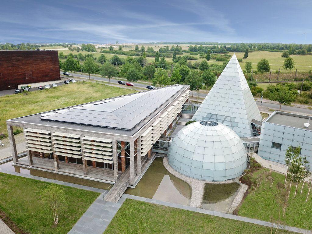Luftaufnahme Dänischer Pavillon 1024x768 - Neue Eventlocation: Dänischer Expo-Pavillon auf dem Messegelände